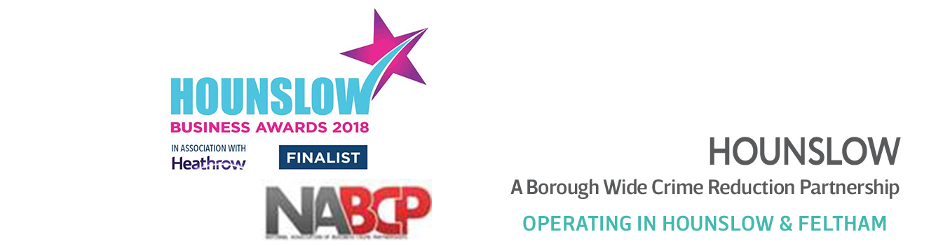 Hounslow Business Awards, NABPC and Safer Business Hounslow logos